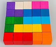 Деревянные кубики набор 25 шт. Тато (КБ-001)