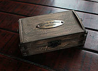 """Расчетница деревянная """"Винтаж"""" с латунным шильдом (лого заказчика), фото 1"""
