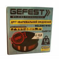 Проволока сварочная GEFEST СВ08Г2С 0.8мм/1кг