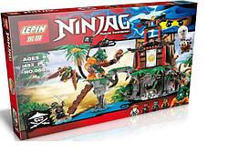 Детский конструктор Тигровый остров вдов, 482 дет. серия Ninja