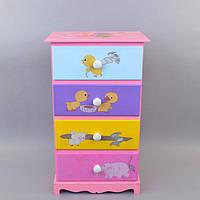 """Комод детский для одежды """"Rainbow"""" I025, дерево, 61х36х24 см, комодик для детей, комод для ребенка"""