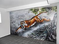 Художественное оформление в спортзале (Тигр)