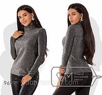 Женский свитер-гольф с блестками 88515