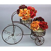 """Подставка под цветы """"Велосипед"""" HX040, декор для сада, декорирование сада, аксессуары для сада"""
