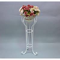 Подставка под цветы HX8244, материал - металл, размер - 29*29*75 см, изделия из ротанга и металла, декор для дома, декор для сада