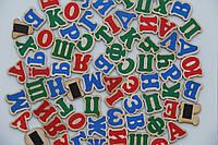 Набор магнитных букв Украинский алфавит на магнитах 72 буквы Komarovtoys (J 704)
