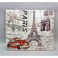 """Декор настенный """"Paris"""" HX8069, материал - дерево, размер -51*61 см, декор для дома, декорирование дома, аксессуары для дома"""