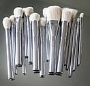 Набор кистей Kylie Cosmetics Silver Series Brush (16 штук), фото 2