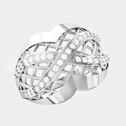 Кольцо  женское серебряное Бесконечность KE-1478