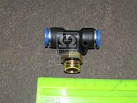 Соединитель трубки ПВХ тройник трубка+резьба (12хM16x1.5х12)(RIDER) RD 99.41.26