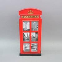 "Ключница настенная для ключей ""Telephone"" KL52, большая, дерево, 52х22х5 см, ящик для ключей, сейф для ключей, шкафчик для ключей"