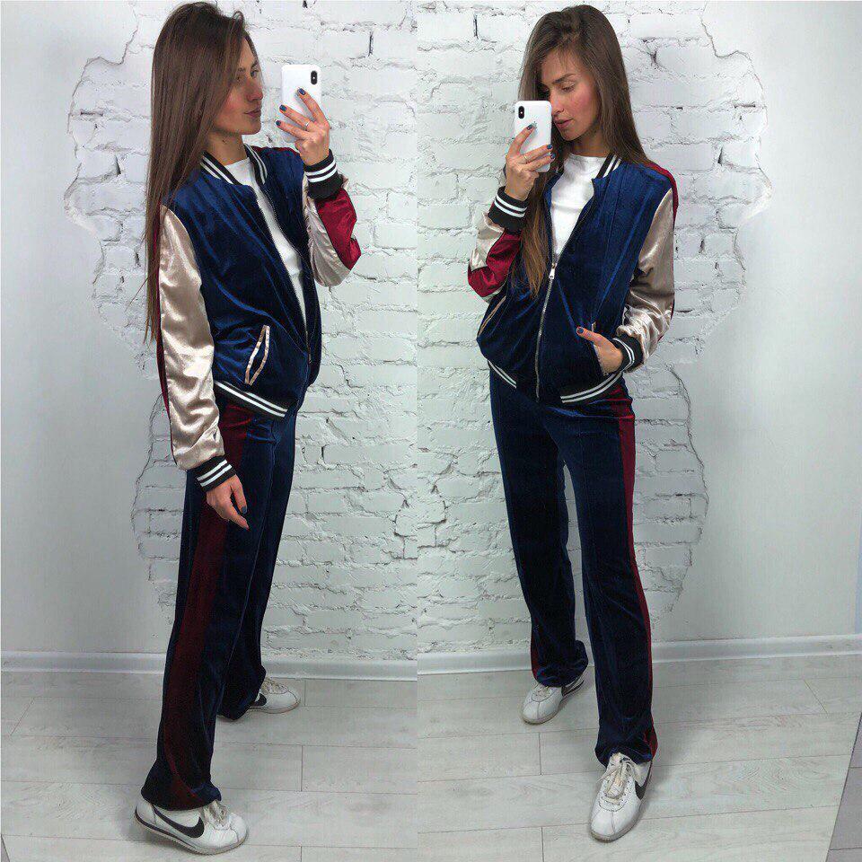 28685b2e1a91 Модный спортивный костюм бархатный женский - Vasmari оптово-розничный  интернет-магазин в Харькове