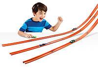 Хот Вилс дополнительные пути к любому треку Hot Wheels Stunt DCC Track Builder Playset 12 метров Оригинал