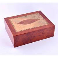 Хьюмидор для хранения сигар 9Е41, 15*19*8 см, дерево под лак, Аксессуары для курения, Деревянный хьюмидор, Шкатулка для сигар