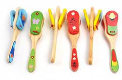 Деревянные игрушечные кастаньеты | Детская игрушка кастаньеты | Детские игрушечные кастаньеты