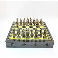 """Шахматы """"Аккад"""" 3107, 35*35*6 см, метталл, Подарочные шахматы, Шахматы полный набор, Деревянные шахматы, Метталические шахматы, Интеллектуальные игры"""