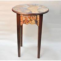 """Столик деревянный для детей """"Мишки"""" 24-011, с ящиком, диаметр 45.5 см, высота 66 см, столик детский, стол для ребенка"""