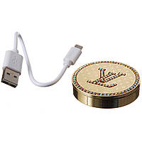 Электроимпульсная зажигалка Louis Vuivitton Elite круглая (USB)