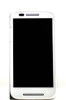 Оригинальный дисплей (модуль) + тачскрин (сенсор) с рамкой для Motorola Moto E XT1021 XT1022 XT1025 (белый), фото 1