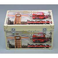 """Сундук деревянный для хранения вещей """"London"""" TL1055, в наборе 3 штуки, сундук для декора, сундук для предметов"""