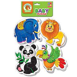 Беби пазлы «Зоопарк» | Пазлы для самых маленьких | Детские пазлы
