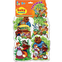 Теремок, беби пазлы для малышей