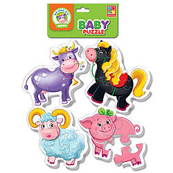 Беби пазлы «Ферма» | Пазлы для самых маленьких | Детские пазлы