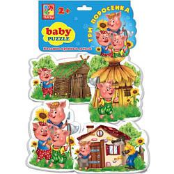 Три поросенка, беби пазлы для малышей