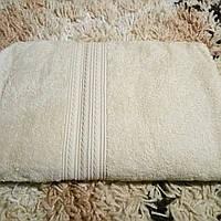 Полотенце махровое 50х90-100 цвет бежевый, Туркменистан