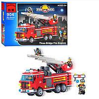 Конструктор BRICK 904 Пожарная тревога, 364 деталей, в коробке, 34,5-25,5-5,5см