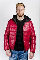 Куртка мужская спортивная, пуховик (Красный)