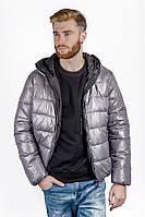 Куртка мужская спортивная, пуховик (Серый)