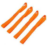 4шт нейлон связывая пояса УФ-защитой прочного сцепления кабель Оранжево-красный