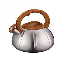Чайник из нержавеющей стали со свистком на 3 л  Peterhof PH-15618