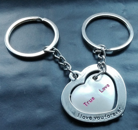 Парные брелки для влюбленных - Сердце в сердце