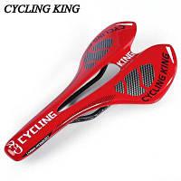 Езда на велосипеде царя MTB велосипед прочный 3k полный углерода сиденье седло Красный