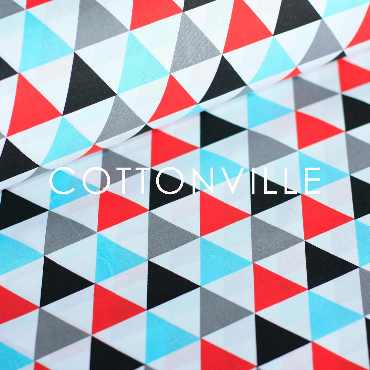 528ba47c20ca Отрезы хлопковой ткани Треугольники разноцветные - COTTONville • ткани для  шитья и рукоделия • в