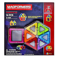Магнитный конструктор на 14 деталей leqi-toys, конструктор магнитный, Детский конструктор