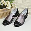 Туфли женские на низком ходу, натуральная кожа и лак, фото 4
