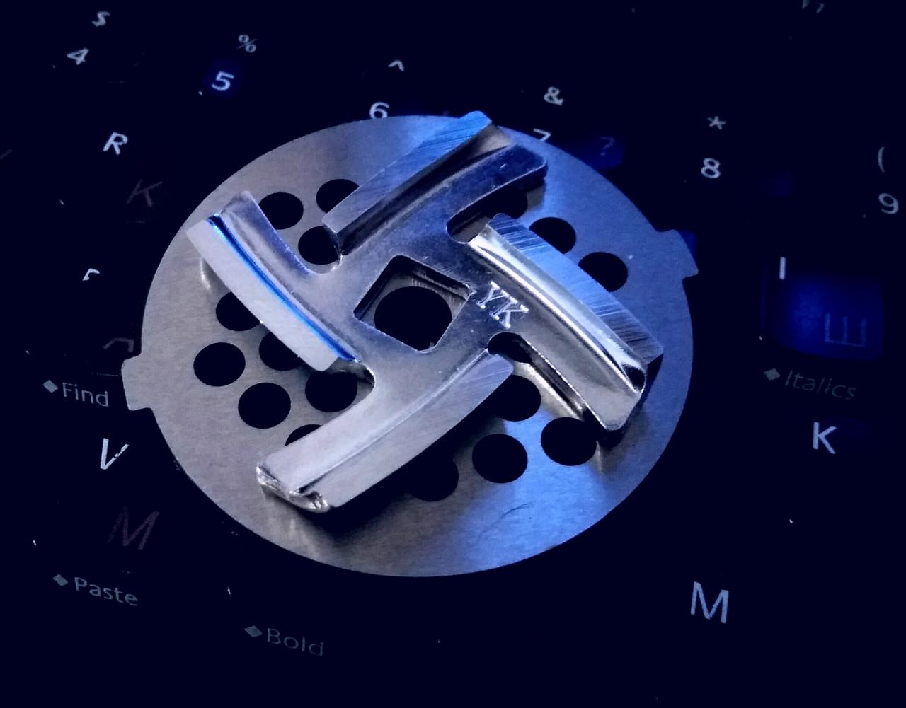 Комплект нож и решетка для мясорубки Сатурн (Saturn)