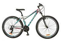 """Велосипед горный 26"""" Leon Ht Lady 2017 бело-голубой, алюминиевая рама, размер рамы 16"""", 18"""""""