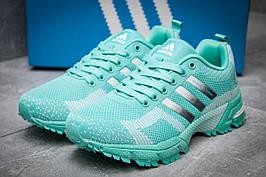 Кроссовки женские Adidas  Marathon TR 21, бирюзовые (11723),  [   41  ]