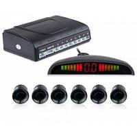 6 Датчики Парковки Система Резервного Копирования Радар Сигнализации Чёрный