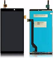 Дисплей для Lenovo A7010 X3 Lite/Vibe K4 Note with touchscreen black orig (Бесплатная доставка до дверей)
