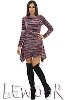Платье молодежное с углами и ворсом