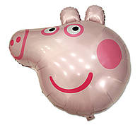 """Фольгированный шар фигурный """"Свинка Пеппа"""" голова 84х78 см"""