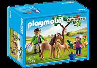 Конструктор Playmobil 6949 Ветеринар с пони и жеребенком