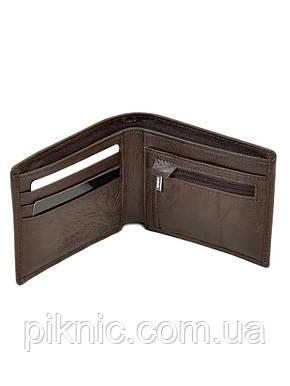 Кожаный мужской кошелек Dr Bond на магните. Натуральная кожа. Коричневый, фото 2
