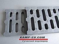 Водоприемная решетка пластиковая серая ПП
