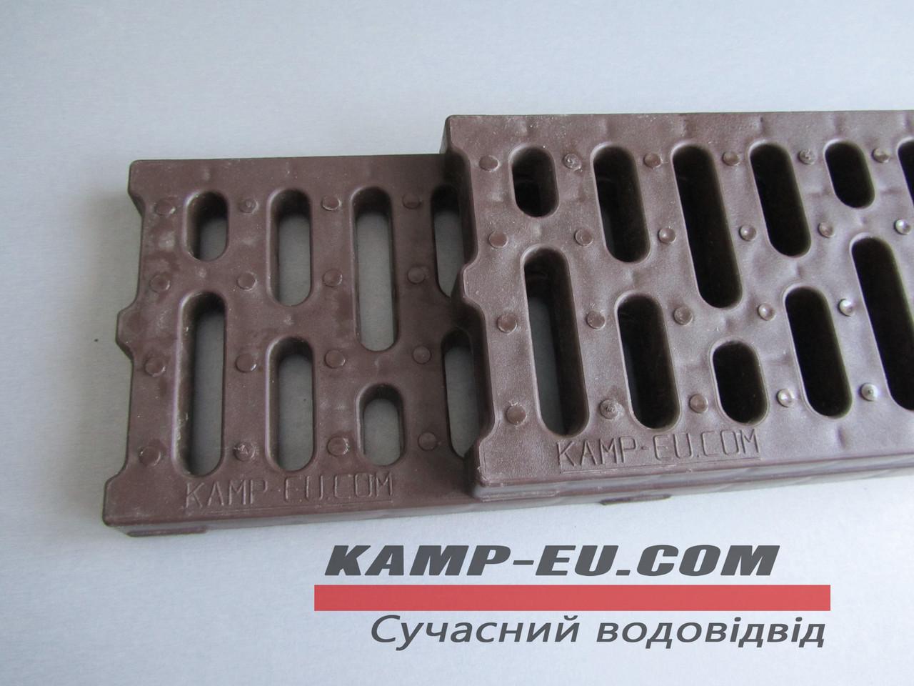 Дренажная решетка Камп коричневая полипропилен